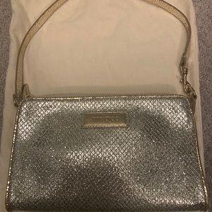 JIMMY CHOO silver clutch/shoulder bag